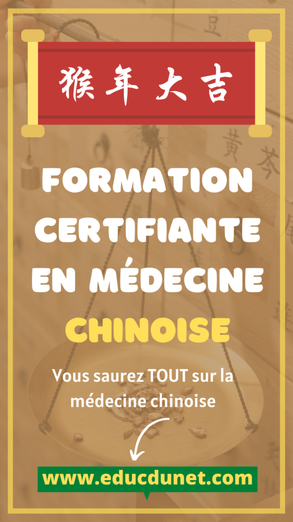 Médecine chinoise formation certifiante